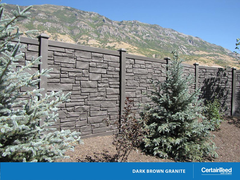 EcoStone®   Fence   CertainTeed